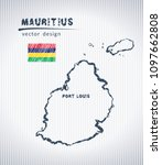 mauritius vector chalk drawing... | Shutterstock .eps vector #1097662808