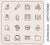 modern  simple vector icon set...   Shutterstock .eps vector #1097676068