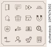 modern  simple vector icon set...   Shutterstock .eps vector #1097676302