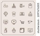 modern  simple vector icon set... | Shutterstock .eps vector #1097676305