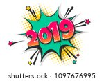 2019 happy new year christmas... | Shutterstock .eps vector #1097676995