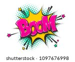 boom isolated white comic text... | Shutterstock .eps vector #1097676998