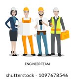 technician and builders and... | Shutterstock .eps vector #1097678546