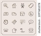 modern  simple vector icon set...   Shutterstock .eps vector #1097681078