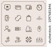 modern  simple vector icon set...   Shutterstock .eps vector #1097681846