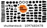 brush strokes text boxes.... | Shutterstock .eps vector #1097683478