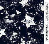 abstract seamless stars pattern.... | Shutterstock .eps vector #1097683682