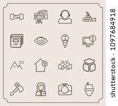 modern  simple vector icon set...   Shutterstock .eps vector #1097684918