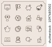 modern  simple vector icon set...   Shutterstock .eps vector #1097685002