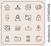 modern  simple vector icon set... | Shutterstock .eps vector #1097685068