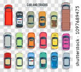 cars and trucks top view... | Shutterstock . vector #1097689475