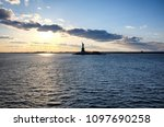hudson river view with the... | Shutterstock . vector #1097690258