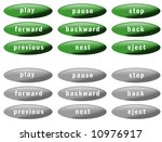 set of nine green buttons and... | Shutterstock . vector #10976917