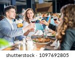 a group of business men and...   Shutterstock . vector #1097692805