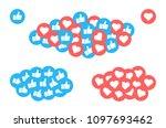 like and heart icon. instagram... | Shutterstock .eps vector #1097693462