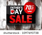 father's day sale  vector... | Shutterstock .eps vector #1097693738