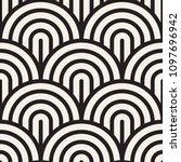 vector seamless vintage pattern ...   Shutterstock .eps vector #1097696942