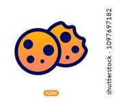 browser cookie icon. color icon ... | Shutterstock .eps vector #1097697182