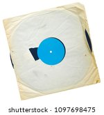 Old Grungy Vinyl Record With...