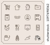 modern  simple vector icon set... | Shutterstock .eps vector #1097698562