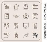 modern  simple vector icon set...   Shutterstock .eps vector #1097698562
