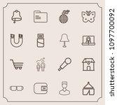 modern  simple vector icon set...   Shutterstock .eps vector #1097700092