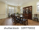 dining room in suburban home... | Shutterstock . vector #109770032