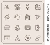 modern  simple vector icon set... | Shutterstock .eps vector #1097701748