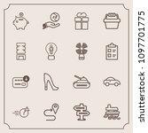 modern  simple vector icon set...   Shutterstock .eps vector #1097701775