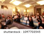 blurred soft of conference... | Shutterstock . vector #1097703545