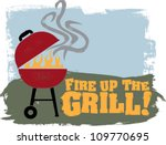 fire up the backyard bbq grill   Shutterstock .eps vector #109770695