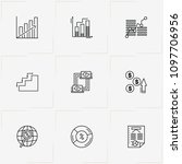 data analitic line icon set... | Shutterstock .eps vector #1097706956
