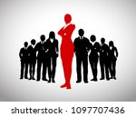 a large team of successful...   Shutterstock .eps vector #1097707436