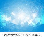 geometric blue polygonal... | Shutterstock .eps vector #1097710022
