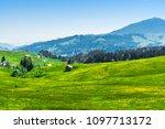 idyllic landscape in... | Shutterstock . vector #1097713172