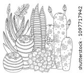 vector coloring page. linear... | Shutterstock .eps vector #1097717942