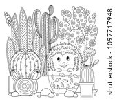 vector coloring page. linear... | Shutterstock .eps vector #1097717948