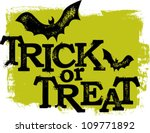 trick or treat halloween text | Shutterstock .eps vector #109771892