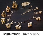 3d illustration clock face with ...   Shutterstock . vector #1097721872