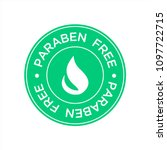 paraben free icon. isolated... | Shutterstock .eps vector #1097722715