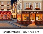 street in the old town of paris ... | Shutterstock .eps vector #1097731475