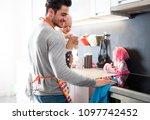 modern masculinity  young... | Shutterstock . vector #1097742452
