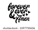 happily ever after. hand drawn... | Shutterstock .eps vector #1097750636