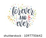 forever and ever black and... | Shutterstock .eps vector #1097750642