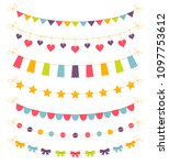 set of colorful garlands ... | Shutterstock .eps vector #1097753612