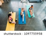 high angle view of three... | Shutterstock . vector #1097755958