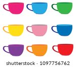 cups for coffee or tea | Shutterstock .eps vector #1097756762