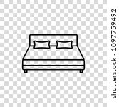 bed vector icon | Shutterstock .eps vector #1097759492