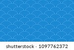 blue two tone geometric line... | Shutterstock .eps vector #1097762372