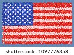 usa flag vector icon. | Shutterstock .eps vector #1097776358